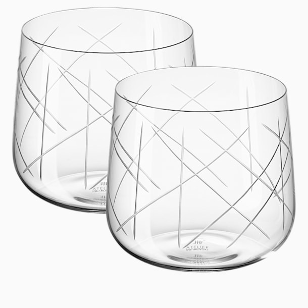 Nest Tumbler Set (2), White - Swarovski, 5548170