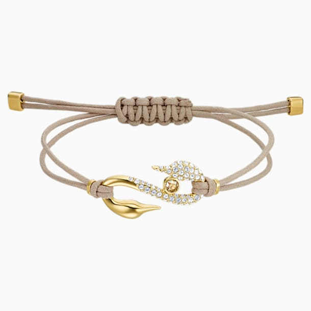 Pulsera Swarovski Power Collection Hook, beige, Baño en tono oro - Swarovski, 5551806