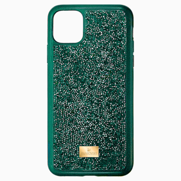 Glam Rock Smartphone case with bumper, iPhone® 11 Pro Max, Green - Swarovski, 5552654