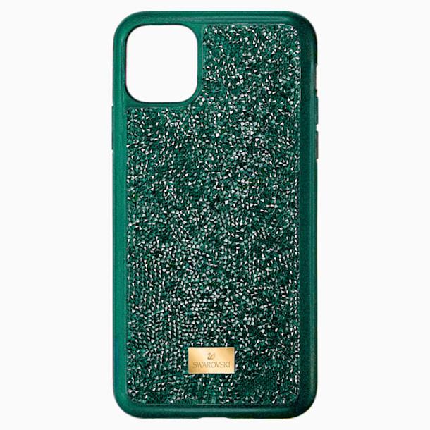 Husă pentru smartphone Glam Rock cu protecție, iPhone® 11 Pro Max, verde - Swarovski, 5552654