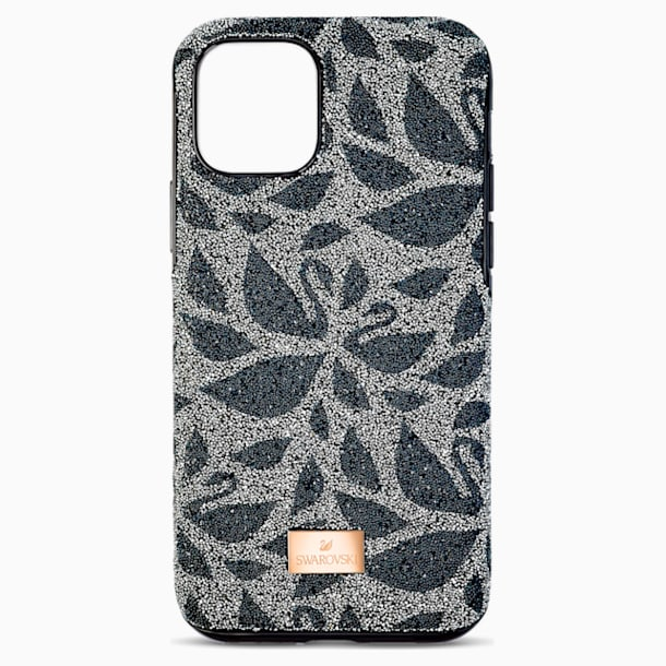 Swarovski Swanflower Smartphone Case with Bumper, iPhone® 11 Pro Max, Black - Swarovski, 5552793