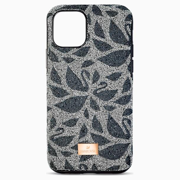 Pouzdro na chytrý telefon Swanflower s ochranným okrajem, iPhone® 11 Pro Max, černé - Swarovski, 5552793