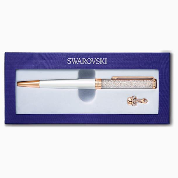 Crystalline Chinese New Year Ox Kugelschreiber, weiss, Rosé vergoldet - Swarovski, 5553338