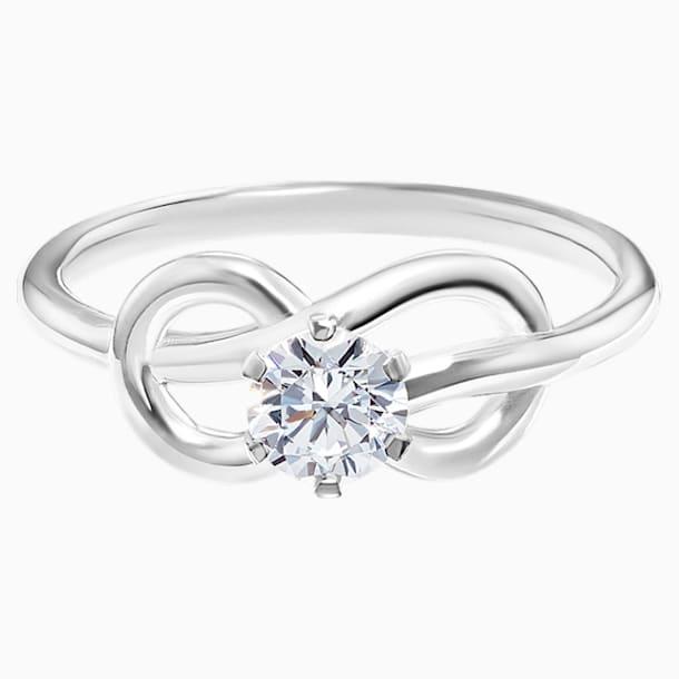 Knot of True Love Savoy Ring 0.25ct, Swarovski Created Diamonds, 18K White Gold, Size 58 - Swarovski, 5553913