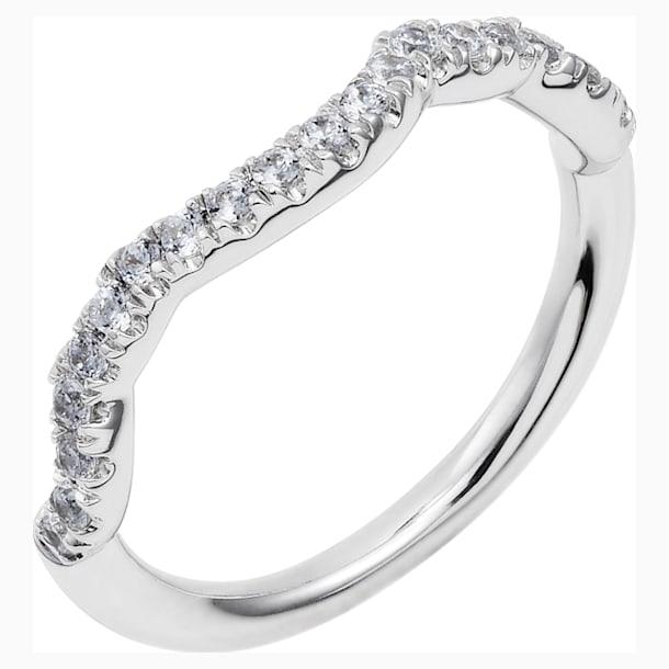 Knot of True Love Classic Band Ring, Swarovski Created Diamonds, 18K White Gold, Size 52 - Swarovski, 5553942