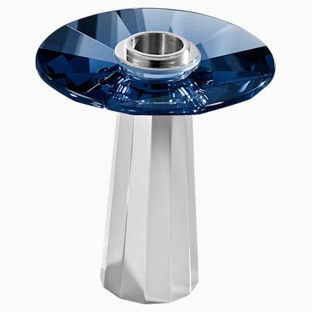 Plinth Candleholder, Small, Blue - Swarovski, 5554686