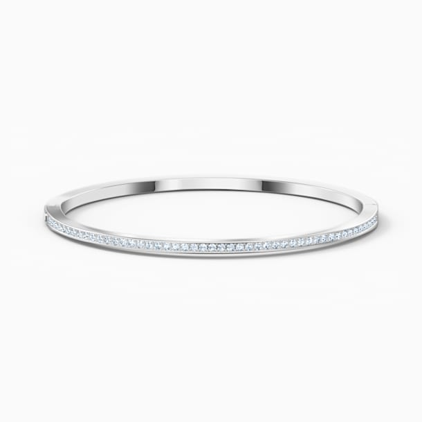 Bracelet-jonc Rare, blanc, métal rhodié - Swarovski, 5555723