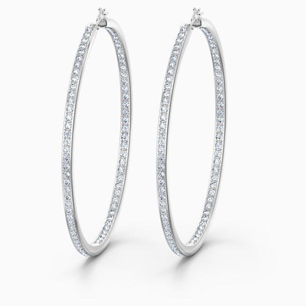 Créoles Rare, blanc, métal rhodié - Swarovski, 5555724