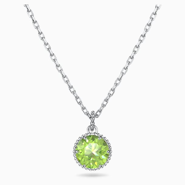 Birthstone Pendant, August, Green, Rhodium plated - Swarovski, 5555790