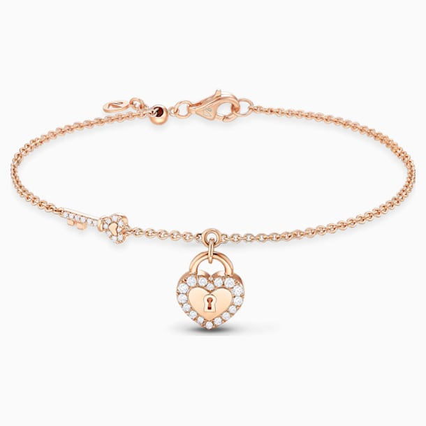 锁定我爱18K玫瑰金粉红蛋白石钻石手链 - Swarovski, 5555950