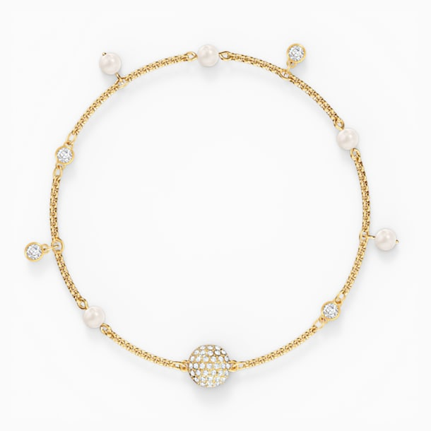 Swarovski Remix Collection Delicate Pearl Strand, 白色, 镀金色调 - Swarovski, 5556904