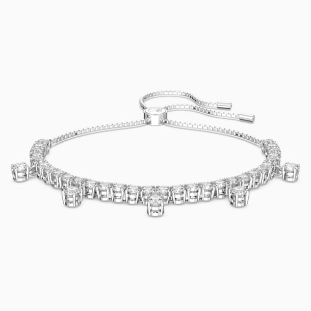 Subtle Drops Bracelet, White, Rhodium plated - Swarovski, 5556913
