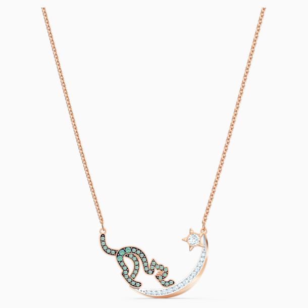 Cattitude 項鏈, 綠色, 多種金屬潤飾 - Swarovski, 5558175
