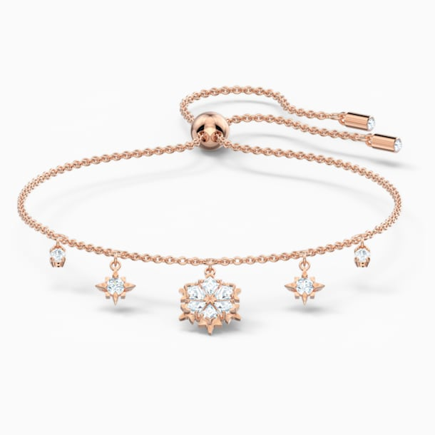 Magic Bracelet, White, Rose-gold tone plated - Swarovski, 5558186