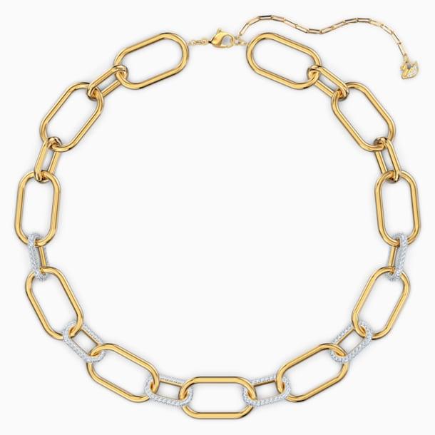 Time Necklace, White, Mixed metal finish - Swarovski, 5558521