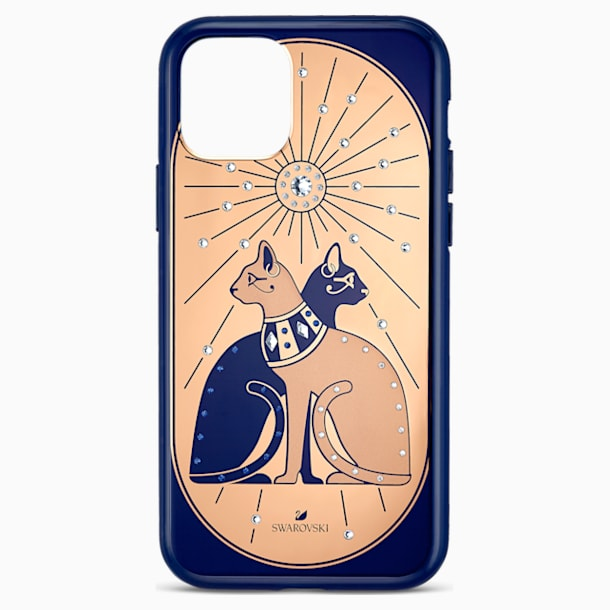 Theatrical Cat Smartphone case with bumper, iPhone® 11 Pro, Multicolored - Swarovski, 5558999