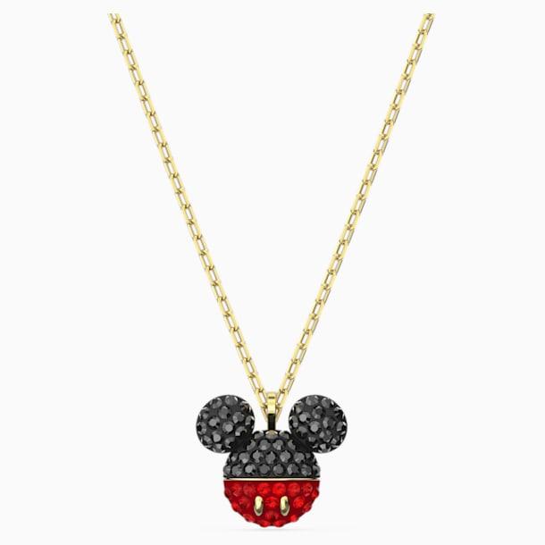 Mickey Pendant, Black, Gold-tone plated - Swarovski, 5559176