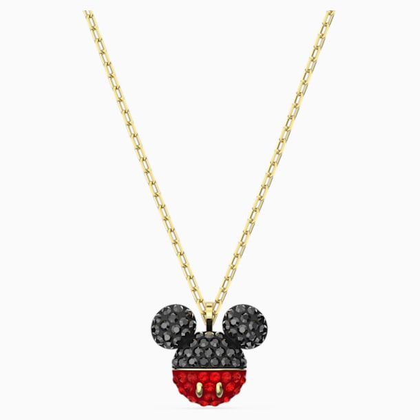 Mickey Pendant, Black, Gold-tone plated - Swarovski, 5559176
