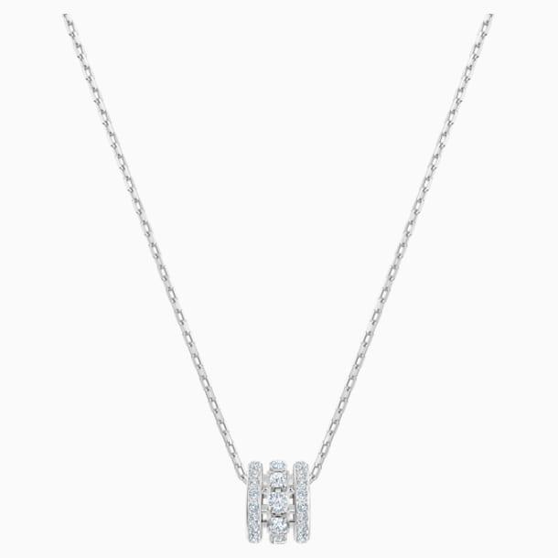 Further Pendant, White, Rhodium plated - Swarovski, 5559259