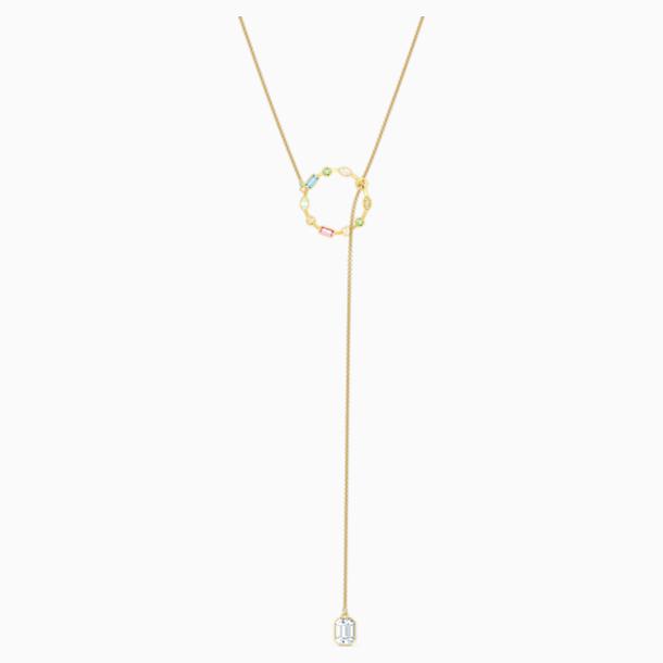 Rainbow Swan Y 네크리스, 골드 톤 플래팅 - Swarovski, 5559300