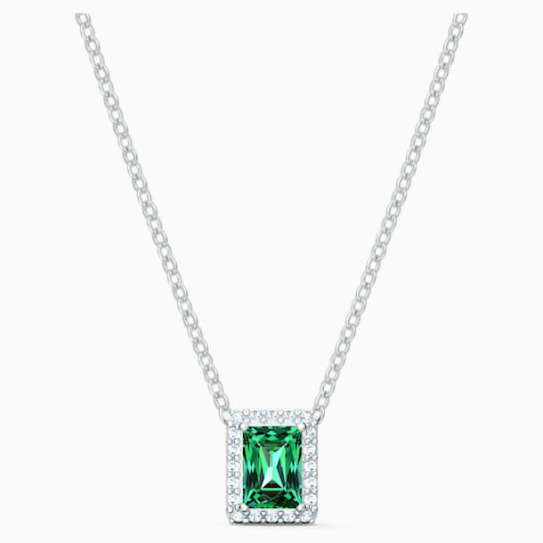 Naszyjnik Angelic Rectangular, zielona, powlekana rodem - Swarovski, 5559380