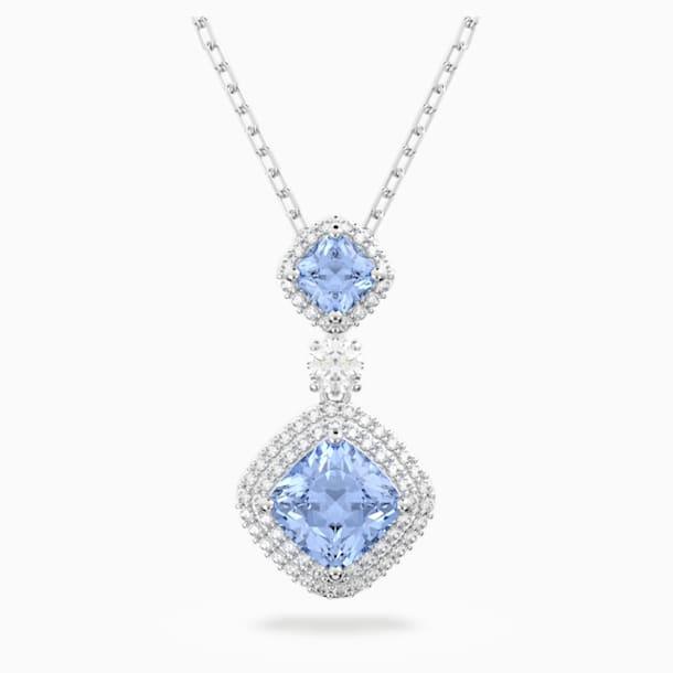 Κολιέ Angelic, μπλε, επιροδιωμένο - Swarovski, 5559381