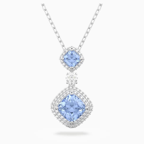 Angelic Necklace, Blue, Rhodium plated - Swarovski, 5559381