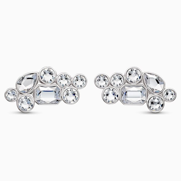 Swarovski Shoe Clips, White, Rhodium plated - Swarovski, 5559823