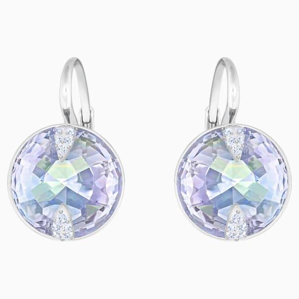 Boucles d'oreilles Globe, bleu, métal rhodié - Swarovski, 5559860