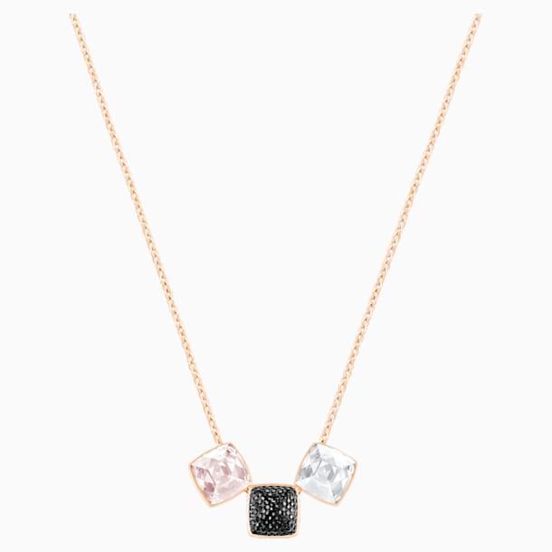 Glance Necklace, Light multi-colored, Rose-gold tone plated - Swarovski, 5559862