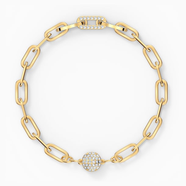 Braccialetto The Elements Chain, bianco, placcato color oro - Swarovski, 5560666