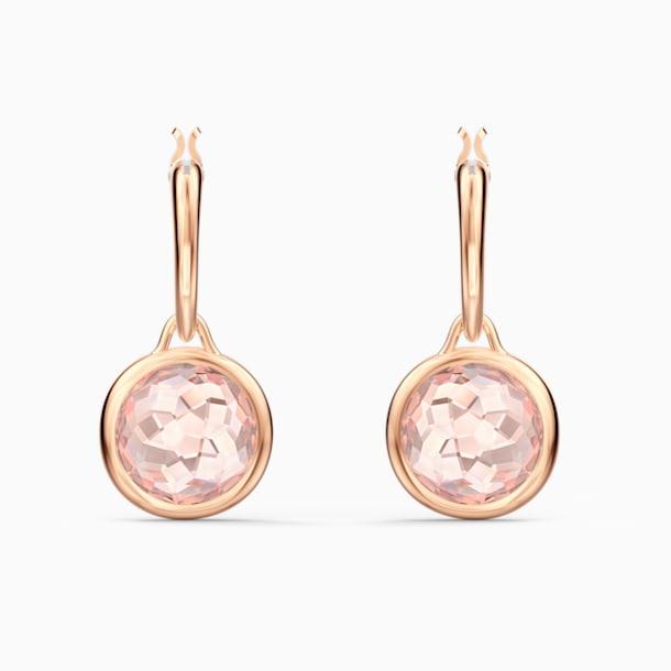 Pendientes de aro Tahlia Mini, rosa, baño tono oro rosa - Swarovski, 5560932