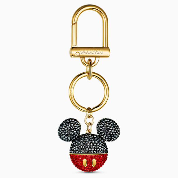 스와로브스키 키링 Swarovski Mickey Bag Charm, Black, Gold-tone plated