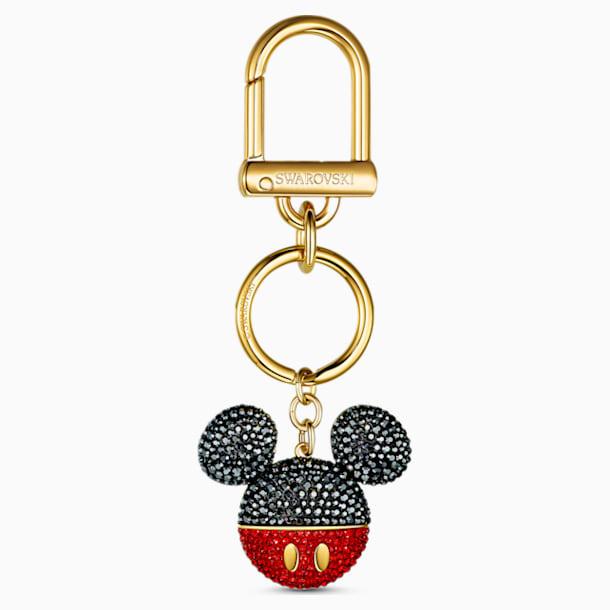 Mickey Bag Charm, Black, Gold-tone plated - Swarovski, 5560954