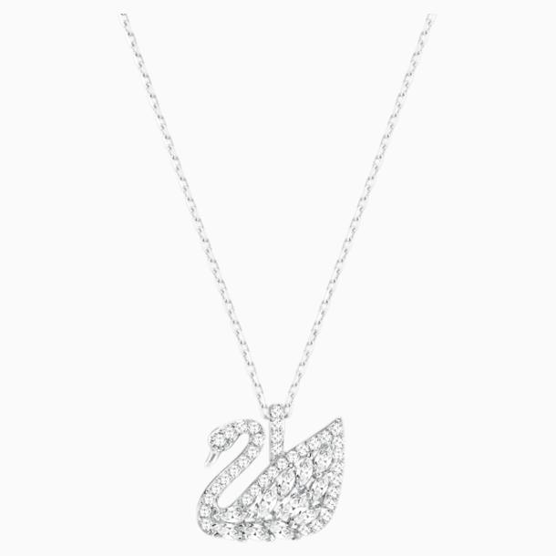 Swan Lake 链坠, 白色, 镀铑 - Swarovski, 5561477