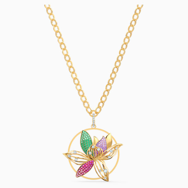 Togetherness Necklace, Multicolored, Gold-tone plated - Swarovski, 5561595
