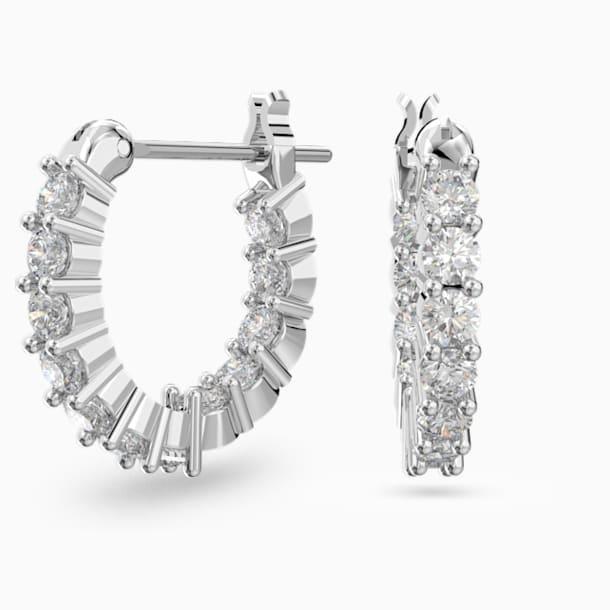 Créoles Vittore Mini, blanc, métal rhodié - Swarovski, 5562126