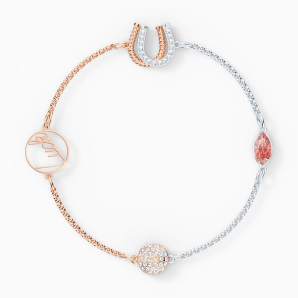 Strand Swarovski Remix Collection Luck, rouge, finition mix de métal - Swarovski, 5563083