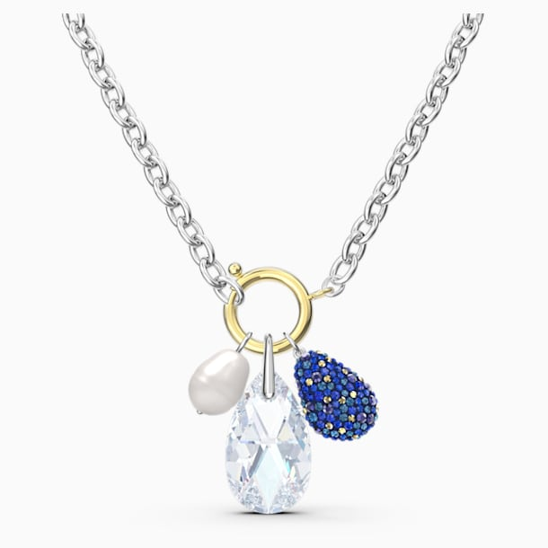 Colier The Elements, albastru, finisaj metalic mixt - Swarovski, 5563511