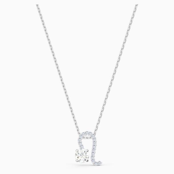 Colgante Zodiac II, Leo, blanco, combinación de acabados metálicos - Swarovski, 5563894