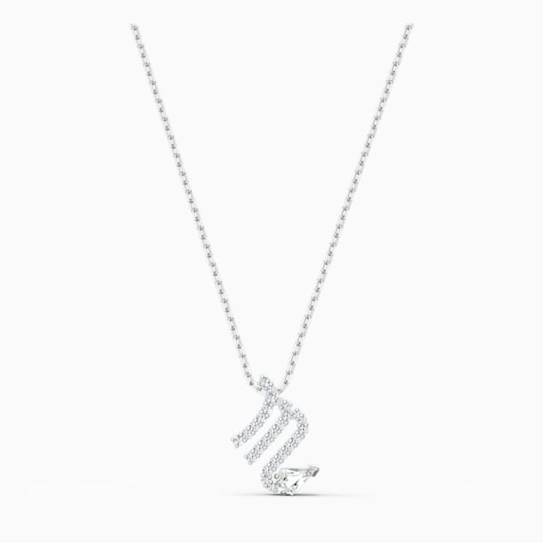 Wisiorek Zodiac II, Skorpion, biały, różnobarwne metale - Swarovski, 5563898