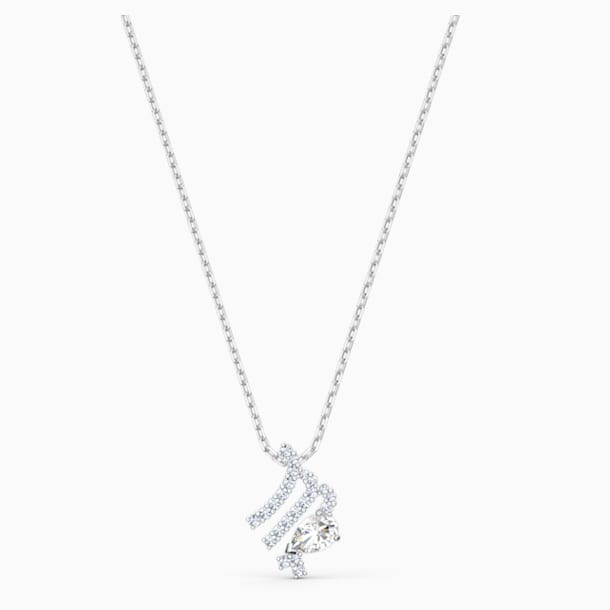 Zodiac II Pendant, Virgo, White, Mixed metal finish - Swarovski, 5563899