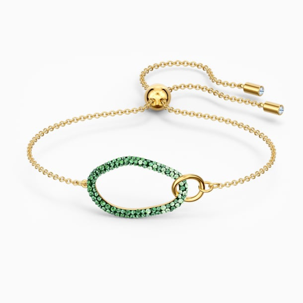 Pulsera The Elements, verde, baño tono oro - Swarovski, 5563935