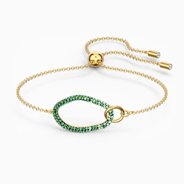 The Elements Bileklik, Yeşil, Altın rengi kaplama - Swarovski, 5563935