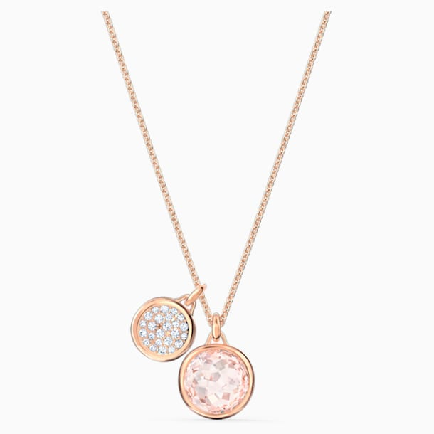 Tahlia Doble Pendant, Pink, Rose-gold tone plated - Swarovski, 5564908