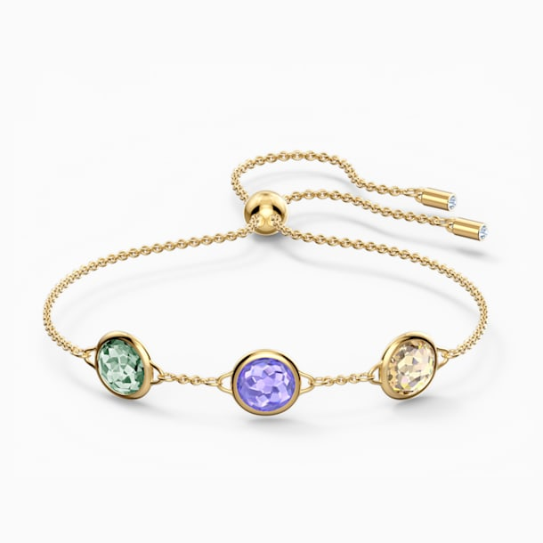 Tahlia Bracelet, Multicolored, Gold-tone plated - Swarovski, 5565550