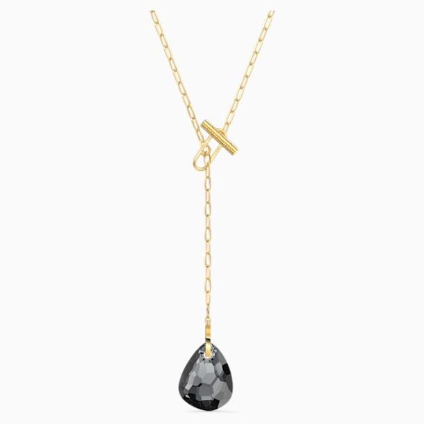 T Bar Y Necklace, Gray, Gold-tone plated - Swarovski, 5565997