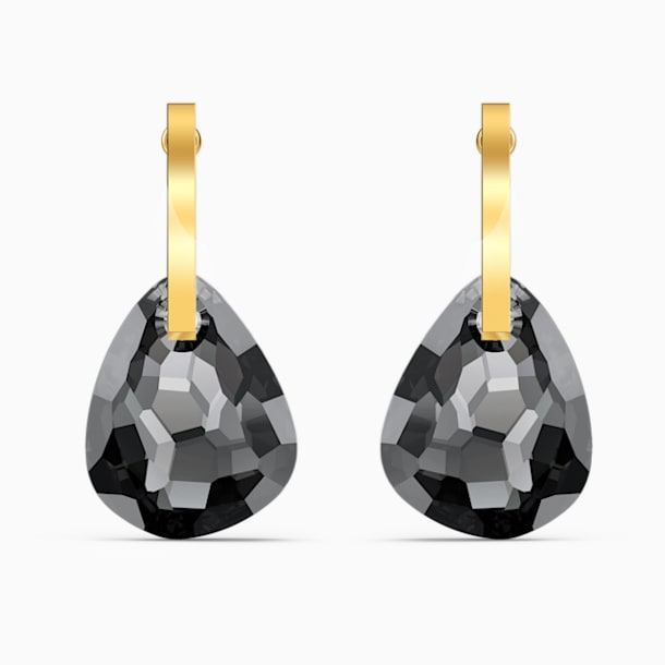 Brincos para orelhas furadas T Bar, cinzentos, banhados a dourado - Swarovski, 5565999