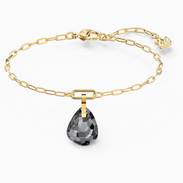 T Bar Bracelet, Grey, Gold-tone plated - Swarovski, 5566149