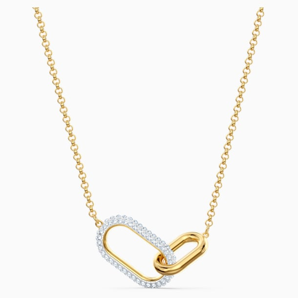 Time Necklace, Medium, White, Mixed metal finish - Swarovski, 5566227